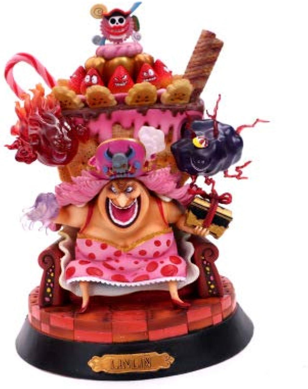 Decorazioni dei mestieri della raccolta del regalo del ricordo del giocattolo della statua di battaglia di One piece Charlotte Linlin