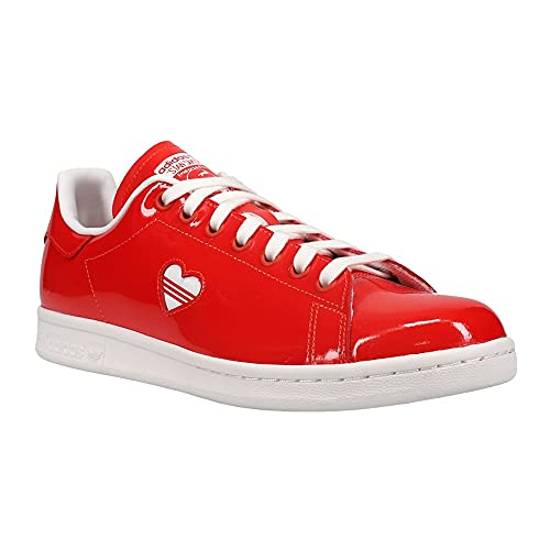 adidas Womens Stan Smith Lace Up Sneakers Shoes Casual - Red - Size 9.5 B