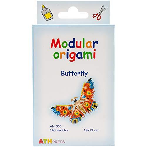 Origami Modular, Juego de 340 Piezas de Papel, Mariposa pequeña, Multicolor
