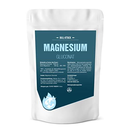 MAGNESIUM GLUCONAT PULVER HOCHDOSIERT - 500g reines veganes Magnesiumgluconat Pulver - 100{4e49fb112200401e31da5d1c8666e6f7d26b779fe0fa4865cb00d1cef89290eb} Ohne Zusatzstoffe in Premium Qualität