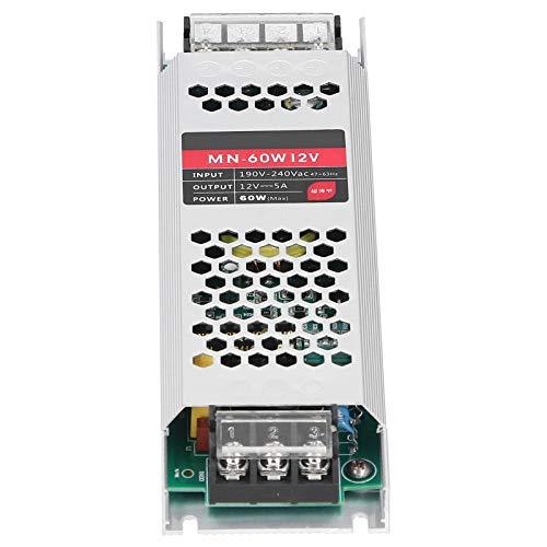 Controlador de fuente de alimentación LED de tira larga ultradelgada de 60 W para proyectos industriales para computadoras(DC12V)