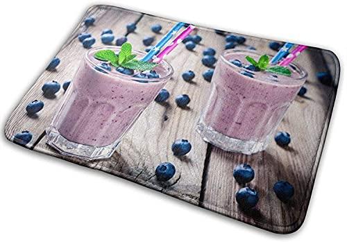JIAJBG Blueberry Milkshake Zone Graphique Tapis Souple Salon Chambre Sofa Tapis Paillasson Cuisi
