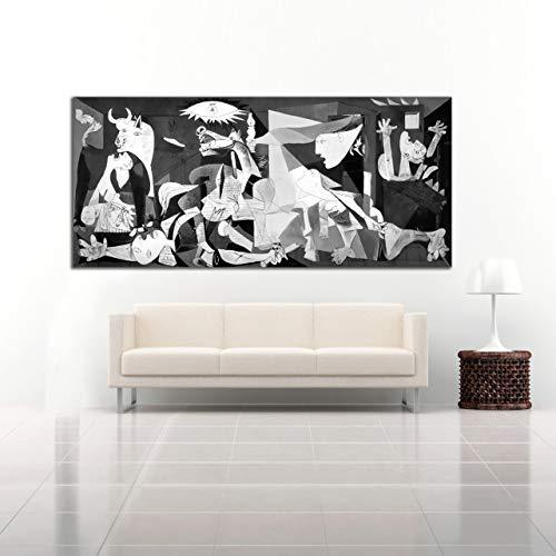 Desconocido Cuadro Lienzo El Guernica Pablo Picasso – Varias Medidas - Lienzo de Tela Bastidor de Madera de 3 cm - Impresion Alta resolucion (150, 67)