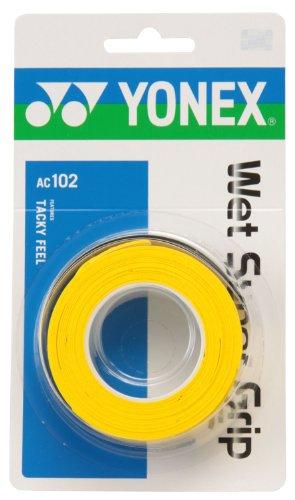 ヨネックス(YONEX) テニス バドミントン グリップテープ ウェットスーパーグリップ (3本入り) AC102 イエロー