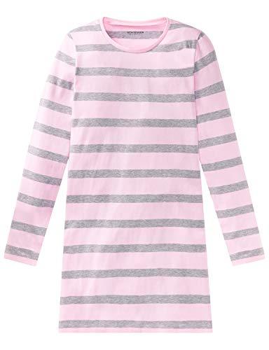 Schiesser Mädchen Sleepshirt 1/1 Nachthemd, Grau (Grau-Mel. 202), 176