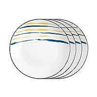 食器セット クリエイティブディナープレートセット2/4/6ピースキッチン食器台丸セラミックディナープレート - 電子レンジ、オーブン、食器洗い機セーフ 素晴らしさの食器セット (Number : 4PACK, Size : S)