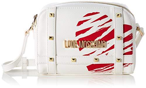 Love Moschino Precollezione SS21 | Camera Bag PU da Donna, Borsa A Spalla, Avorio, Normal