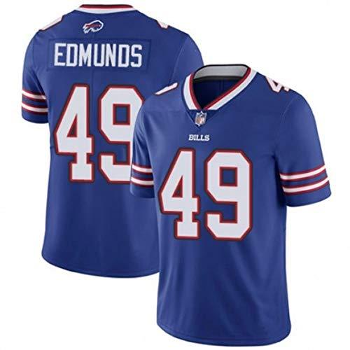 HYQ NFL Bills # 27# 49# 12# 34# 14 Jerseys De Fútbol Bordado, Camisetas De Secado Rápido De Manga Corta para Hombres, Ropa De Entrenamiento De Jugadores, Sudaderas Casuales Azul,#49,M/50