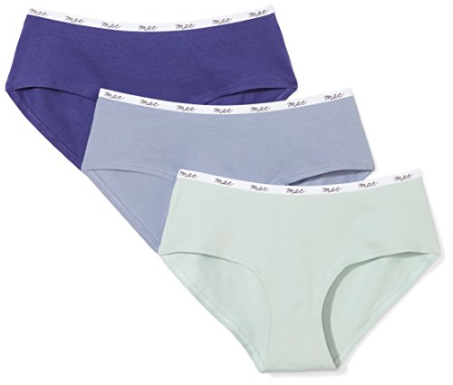Mae Women's Logo Elastic Cotton Hipster, 3 Pack Now $6.00 (Was $14.36)
