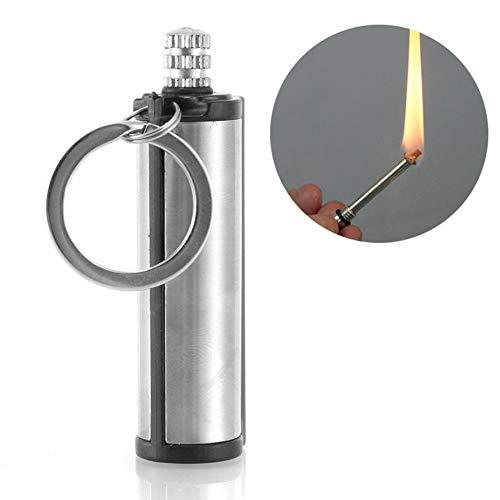 XIUHU - Accendino in acciaio inossidabile, per attrezzatura di sopravvivenza, Acier Inoxydable 5,5 * 1,9, One