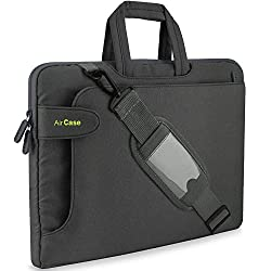AirCase Laptop Bag Sleeve Messenger Bag for 13-Inch/ 14-Inch Laptop MacBook | Strap, Pocket (Grey),AirCase,C17
