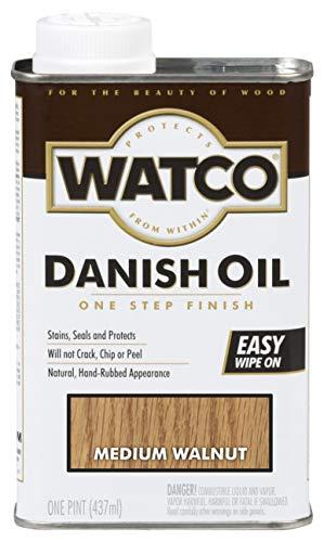 Watco 65951 Danish Oil Wood Finish, Pint, Medium Walnut
