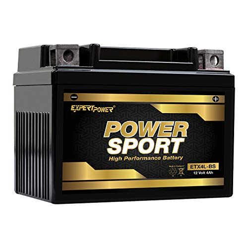 YTX4L-BS, YT4L, YTX4L, YT4L-BS, GTX4L-BS, GT4L-BS, GTX4L, GT4L Replacement 12V3AH WPX4L-BS Sealed AGM for Arctic Cat, Polaris, BRP, Can-Am Motorcycle, Scooter, ATV Batteries ExpertPower