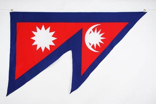 AZ FLAG Flagge Nepal 90x60cm - NEPALESISCHE Fahne 60 x 90 cm - flaggen Top Qualität