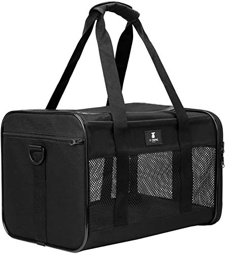 X-ZONE PET Airline Approved Soft-Sided Pet Travel Carrier for Dogs and Cats, Medium Cats Small Cats...