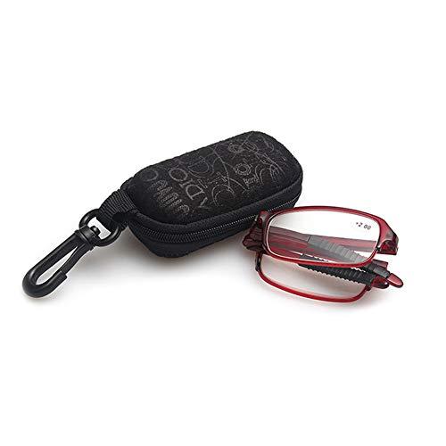 VEVESMUNDO Opvouwbare leesbril kijksterkte leeshulp oogoptiek bril vissterkte met etui 1.0 1.5 2.0 2.5 3.0 3.5 4.0