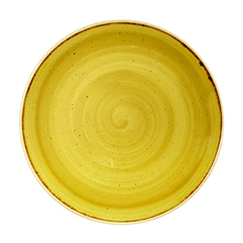 Churchill Stonecast -Coupe Plate Teller- Durchmesser: Ø26,0cm, Farbe wählbar (Mustard Seed)