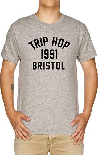 Vendax Trip Hop Camiseta Hombre Gris