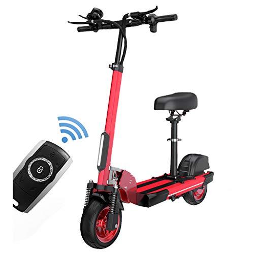 H-CAR QW Scooter Electrico con Asiento, Patinete Electrico Adulto, Ajustable La Altura,...