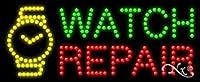 11 x 27 x 1インチ 時計修理 アニメーション点滅 LEDウィンドウサイン