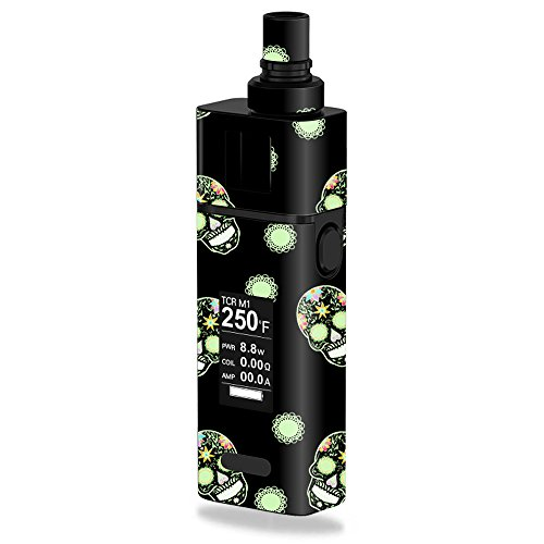 Price comparison product image MightySkins Skin Compatible with JoyeTech Cuboid Mini 80W Nighttime Skulls / Protective,  Durable,  and Unique Vinyl Decal wrap Cover / Easy to Apply,  Remove,  and Change Styles / Made in The USA