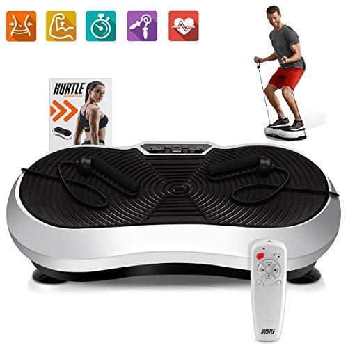 JEI-MEN Vibration Plate Exercise Machine Whole Body Workout Vibration Fitness Platform Vibrating Foot Massager for Home Exercise and Weight Loss Intelligence Remote Control