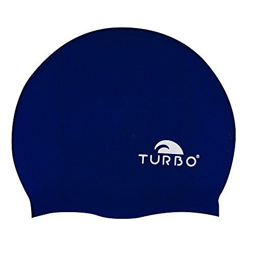 Turbo, cuffia da nuoto blu scuro in silicone, taglia unica