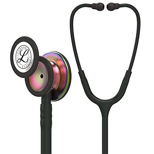 3M Littmann Classic III Monitoring Stethoscope, Rainbow-Finish Chestpiece, Black Stem and Headset,...