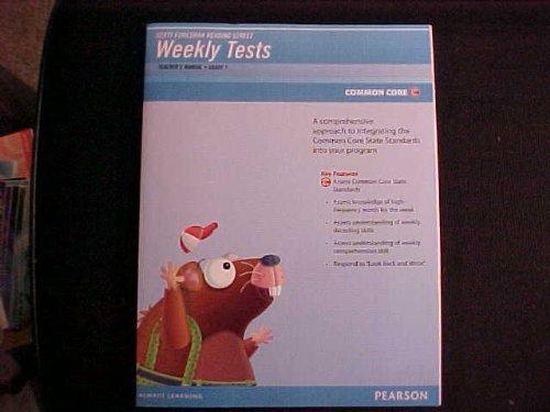Reading Street Weekly Tests Teachers Manual Grade 1