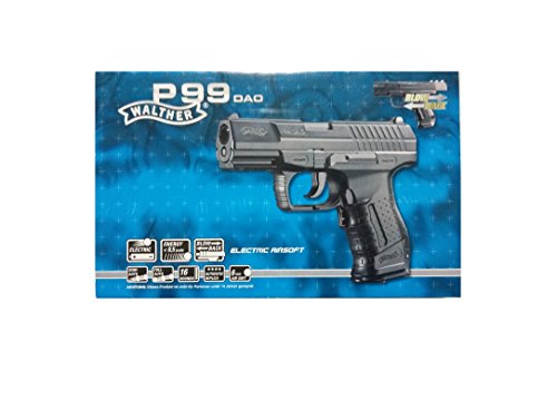 Walther Softair P99 DAO electric mit Maximum 0.5 Joule Airsoft Pistole, Schwarz, 180 mm