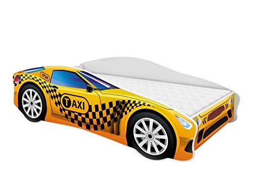 Lettino auto per bambini + materasso per bambini 140 x 70 160 x 80 180 x 80 cm (10, 140x70)
