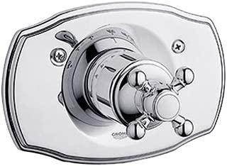 Geneva Single-Handle Thermostat Valve Trim Kit with Cross Handle
