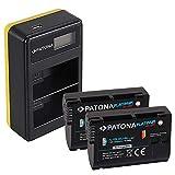 PATONA 2X EN-EL15b Platinum Batería con Cargador Doble LCD USB Compatible con Nikon 1 V1, D780, Z6, Z7, D7000, D7100, D7200, D7500