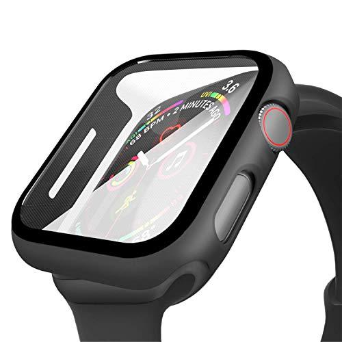 Wenearn Compatibile con Apple Watch 42mm Custodia PC + Pellicola Protettiva, Thin Fit Progettato per Apple Watch 42mm Series 3/2/1 Case Cover [Copertura Completa] [HD Clear] [Anti-Graffio], Nero