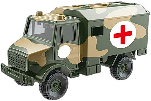Simulatie Army Medical Vehicle Ambulance speeltoestel, Pretend Children's War and Action Toys Military Suit model decoratie, geschikt voor kinderen 1-3 jaar en ouder