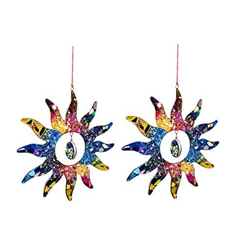 DIMOLET Sonnenfänger Kristall Prisma Anhänger Glas Regenbogen Sonne Hängende Ornamente Dekoration Für Garten Auto Innenspiegel