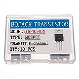 BOJACK IRF9540 MOSFET Transistor IRF9540N 23 A 100 V MOSFET di potenza a canale P TO-220AB (confezione da 10 pezzi)