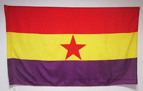 Comprabuena Bandera Republicana ESPAÑOLA Estrella ROJA Ejercito Popular Grande 150Cm