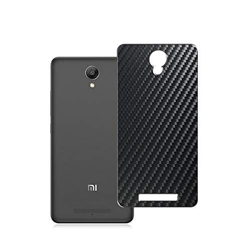 Vaxson 2-Pack Pellicola Protettiva Posteriore, compatibile con Xiaomi note 2 REDMI hongmi note2, Back Film Protector Skin Cover [ Non Vetro Temperato ] - Fibra di Carbonio Nera