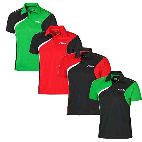 Mantel de Tenis de Mesa: Stiga Camisa Viaje Negro/Verde/Blanco Talla S
