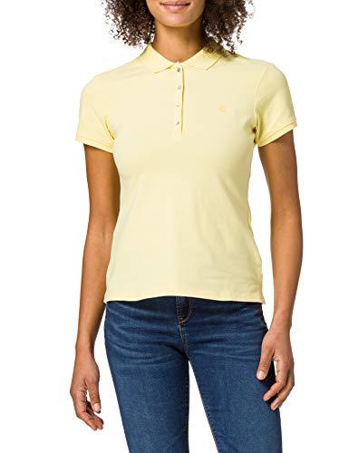 Springfield Polo Algodón Orgánico Camiseta, Amarillo, XL para Mujer
