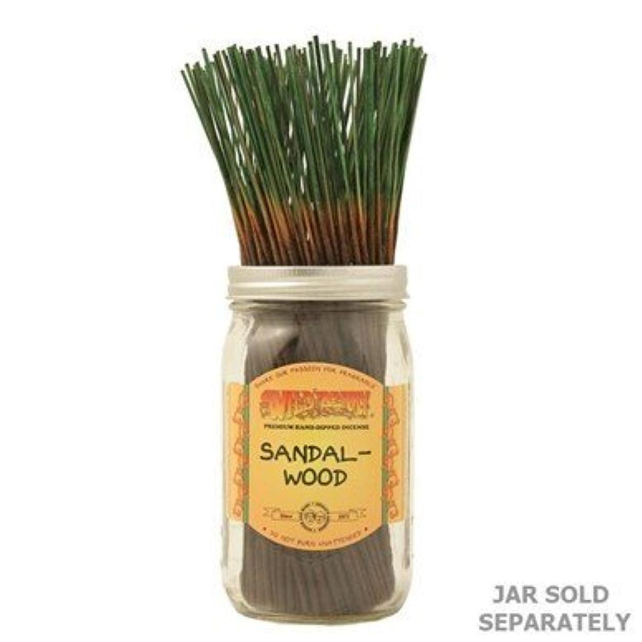 動く本を読むどんなときもSandalwood - 100 Wildberry Incense Sticks [並行輸入品]