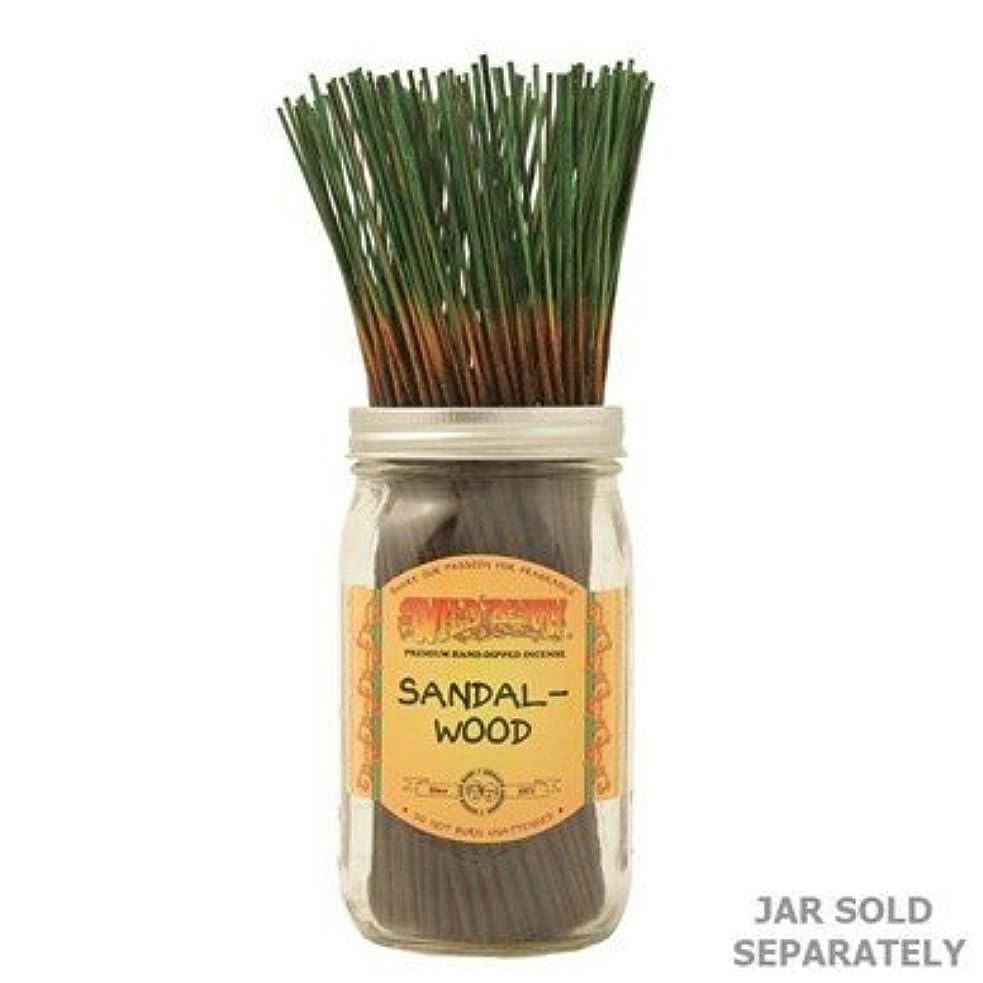 サイドボード怒って覆すSandalwood - 100 Wildberry Incense Sticks [並行輸入品]