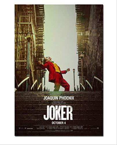 NOBRAND Nueva Película Joker Silk Poster Origin Movie Art Prints Comics Decoración De La Pared Imágenes Batman Joaquin Phoenix Film Posters 40X60Cm Sin Marco