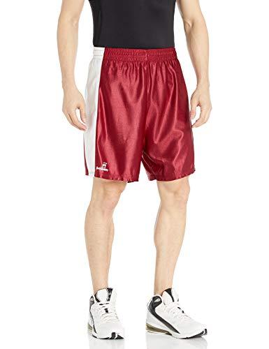 Intensity Unisex Pro Style Dazzle Basketball Shorts, Unisex Herren, Kardinal/Weiß, Large
