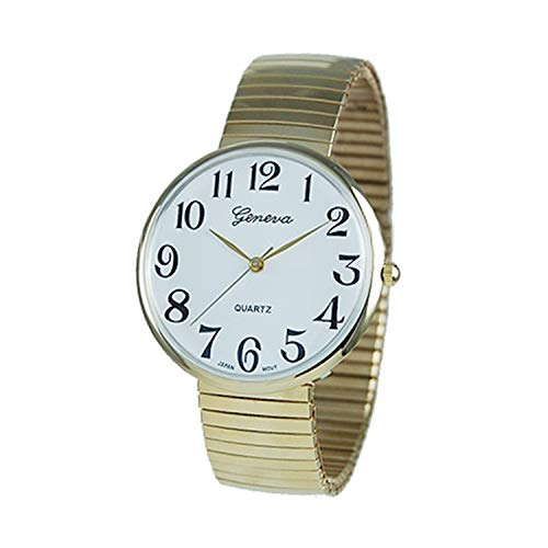 Rosemarie Collections Geneva - Reloj de pulsera para mujer (correa elástica), color dorado