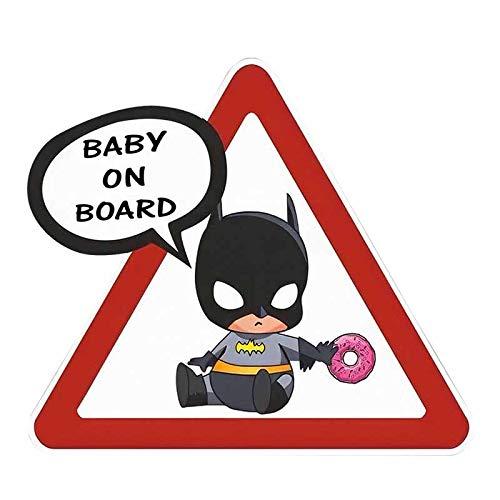EARLFAMILY 5.1'' Baby On Board Car Stickers Super Hero Cute Batman Car Styling Window Bumper Warning Sign Decals
