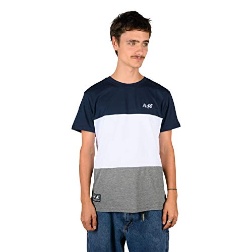 Aight Evolution T-Shirt 3 Way (Navy White Dark Grey) M