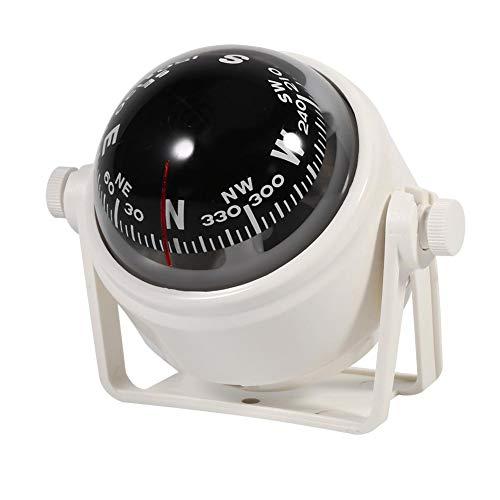 Marine Kompass, Fydun Navigation Compass Mehrzweck Sea Marine Halterung Kompass Voyager mit Innenhalterung für Boots Caravan LKW(Weiß)