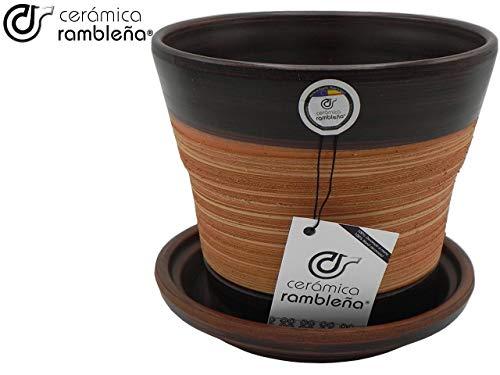 CERÁMICA RAMBLEÑA | Macetas de Barro Rojo | Macetas Decorativas | Macetas de cerámica | Macetas Exterior | Araña-Nogal…